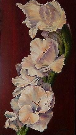 """Gladiolus"" original fine art by Maria Levandowski"