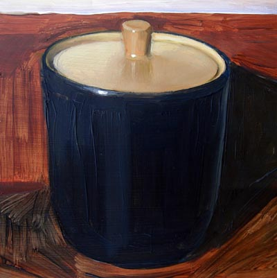 """Black and Orange Sugar Bowl"" original fine art by Michael William"
