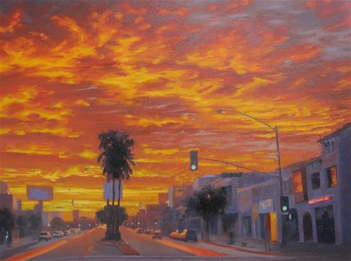 """""""Sunrise on 2nd Street"""" original fine art by John White"""