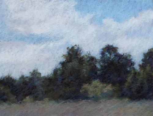"""Tree Line"" original fine art by Cindy Haase"