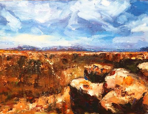 """GRAND CANYON 6"" original fine art by Run-      Zhang Zane"