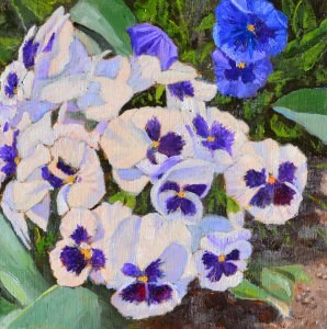 """Pansies"" original fine art by Robert Frankis"