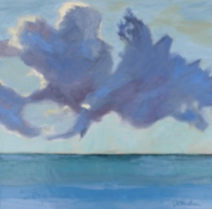 """Percolating Purple Clouds"" original fine art by Janet Bludau"