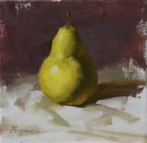 """Pear"" original fine art by Fongwei Liu"