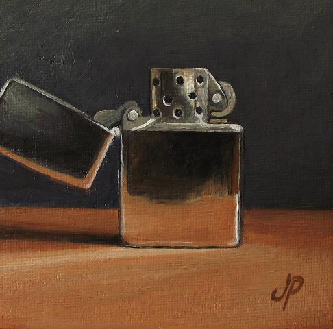 """Zippo"" original fine art by Jane Palmer"