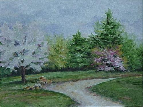 """Cherry Blossom Time"" original fine art by Maria Levandowski"