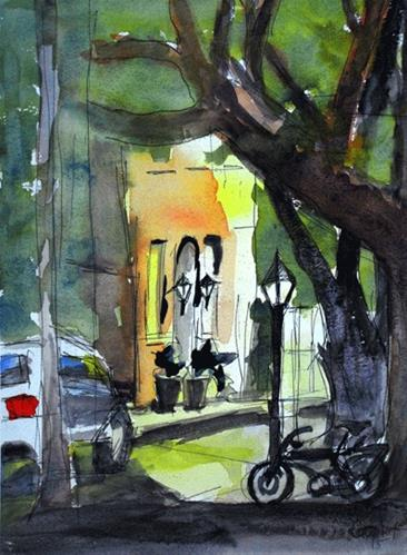 """Southern Alleyway"" original fine art by Donna Crosby"