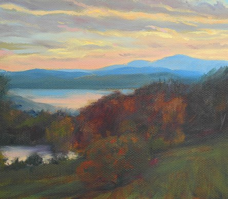 """Church's Sunset"" original fine art by Jamie Williams Grossman"