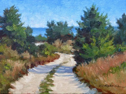 """""""'Beach Road' An Original Oil Painting by Claire Beadon Carnell 30 Paintings in 30 Days Challenge Day"""" original fine art by Claire Beadon Carnell"""