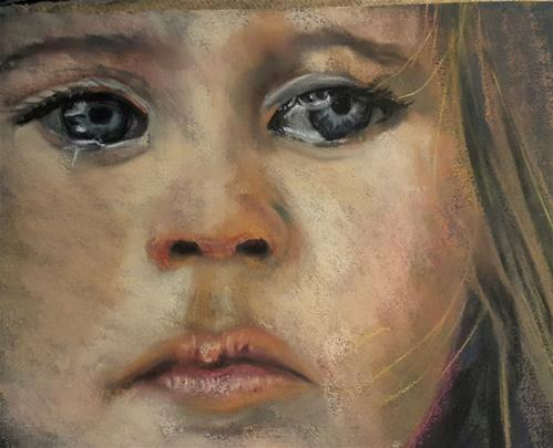 """So sad"" original fine art by Rentia Coetzee"
