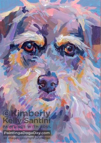 """Tilly"" original fine art by Kimberly Santini"
