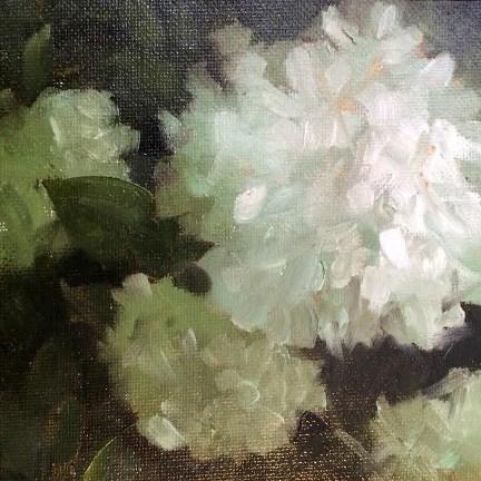 """Hydrangea"" original fine art by Elaine Juska Joseph"