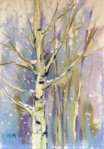 """Art Lessons from an Aspen Tree"" original fine art by Karen Margulis"