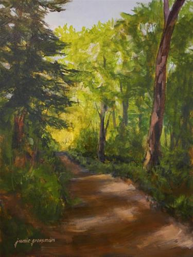 """Hiking the Appalachian Trail"" original fine art by Jamie Williams Grossman"