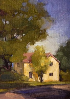 """Corner House"" original fine art by Laurel Daniel"