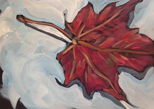 """Sugar Maple Leaf #4"" original fine art by Kat Corrigan"