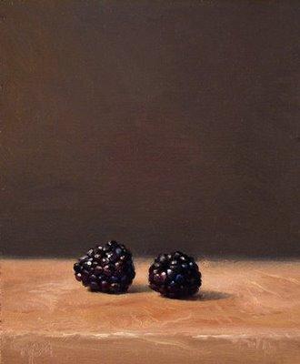 """""""Two Blackberries"""" original fine art by Abbey Ryan"""