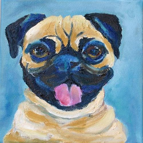 """""""Pug"""" original fine art by barbara quast"""