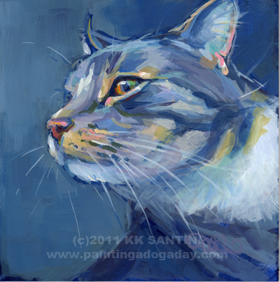 """Mr. Waffles"" original fine art by Kimberly Santini"