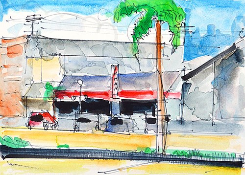 """Hillcrest Watercolor Painting"" original fine art by Kevin Inman"