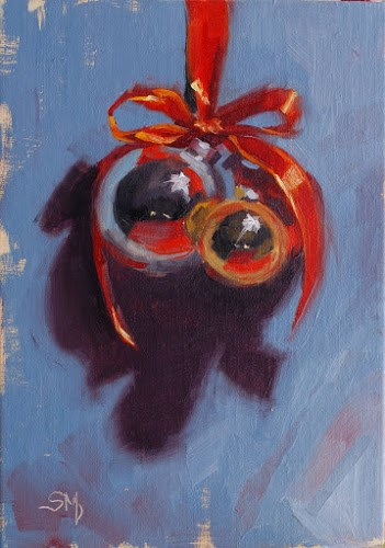"""No. 533 Christmas Ornaments"" original fine art by Susan McManamen"