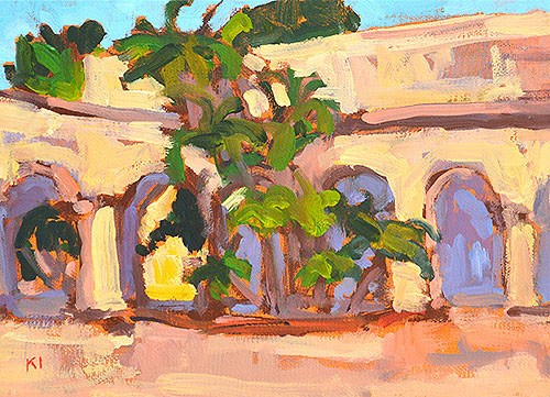 """Balboa Park Arches"" original fine art by Kevin Inman"