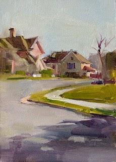 """""""My Neighborhood"""" original fine art by Qiang Huang"""