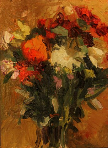 """Jury Duty Bouquet"" original fine art by Carol Steinberg"