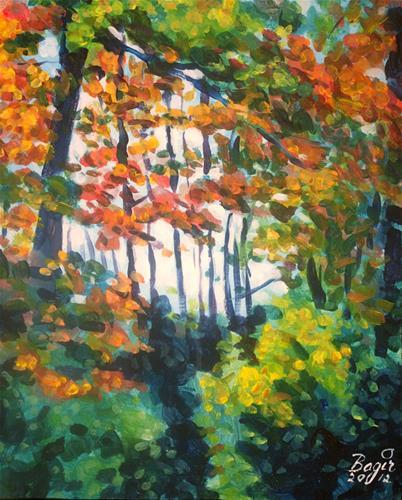 """""""Carleton U Wood"""" original fine art by Elbagir Osman"""