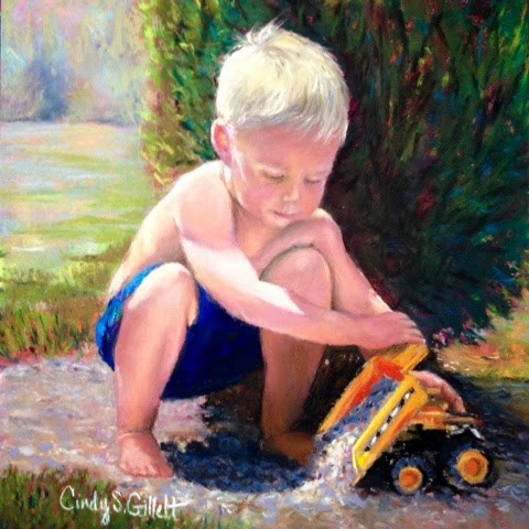 """Scoop....Dump"" original fine art by Cindy Gillett"