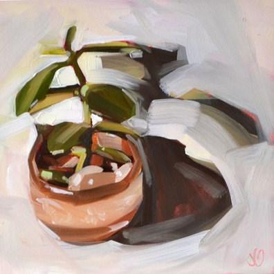"""My Plant Mark"" original fine art by Jessica Green"