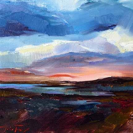 """Sonnenuntergang am Ionischen Meer"" original fine art by Jurij Frey"