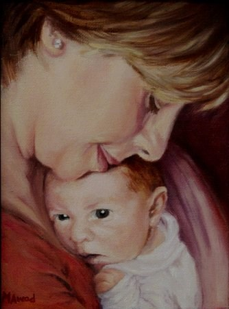 """Mother and Child"" original fine art by Maria Levandowski"