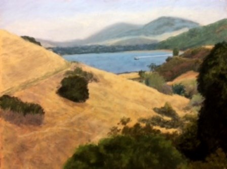 """Ozol on Carquinez Straits"" original fine art by Marti Walker"