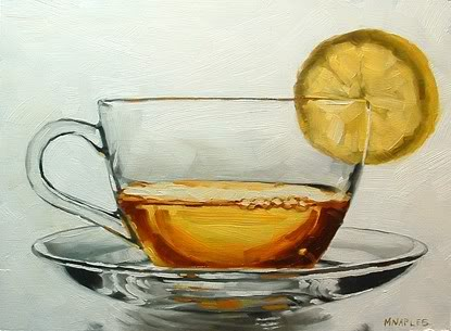 """Holiday Drink No.3"" original fine art by Michael Naples"