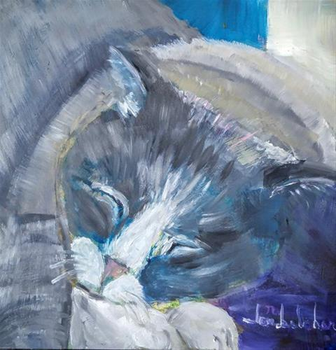 """Snoozin'"" original fine art by Lou Belcher"