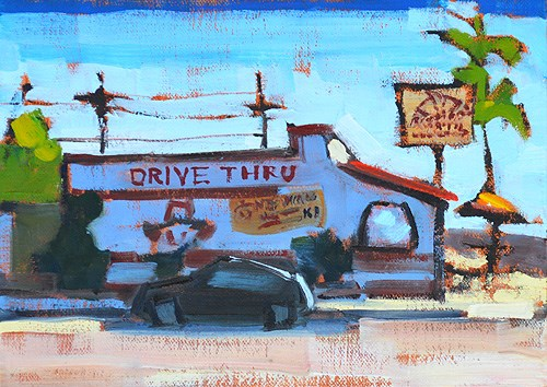 """Throwback, Rigoberto's"" original fine art by Kevin Inman"