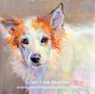 """Zoe"" original fine art by Kimberly Santini"