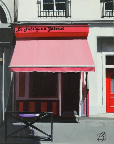"""La fabrique a gateaux"" original fine art by Andre Beaulieu"