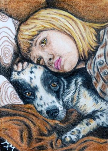 """CP18 - Friends"" original fine art by Monique Morin Matson"