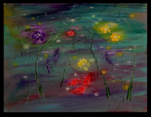 """Firefly Garden"" original fine art by Captain B Smith"