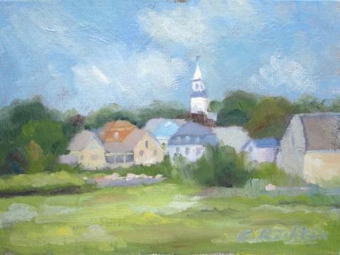 """""""Town of Essex"""" original fine art by Keiko Richter"""