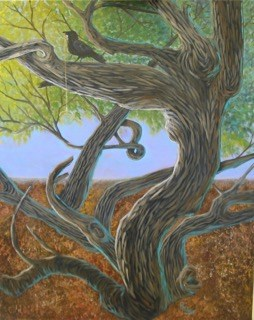 """Raven's Trees"" original fine art by Patricia Murray"