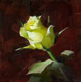 """A Yellow Rose of Texas --- Sold"" original fine art by Qiang Huang"