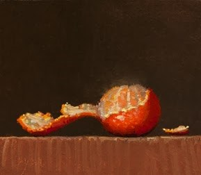 """Tangerine with Peel - 24-hour auction   (+ Live Demo TOMORROW)"" original fine art by Abbey Ryan"