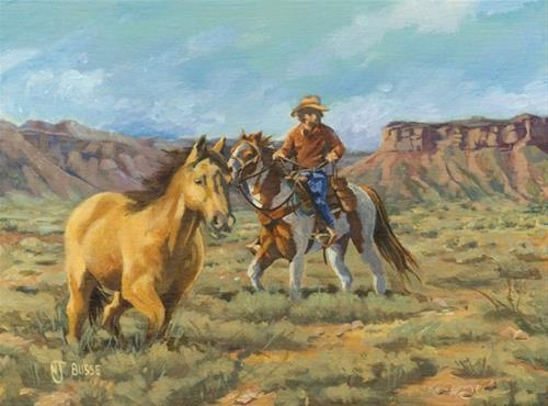 """Original Western Landscape Painting HIGH NOON AT GATEWAY  Colorado Artist Nancee Jean Busse, Paint"" original fine art by Nancee Busse"