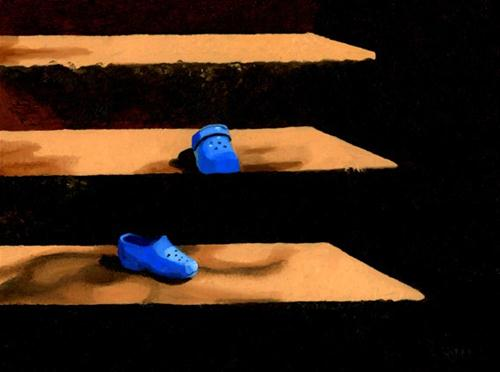 """BLUE SHOES"" original fine art by Nancy Herman"