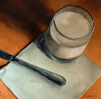 """PB and J with Milk (2 of 2)"" original fine art by Michael Naples"