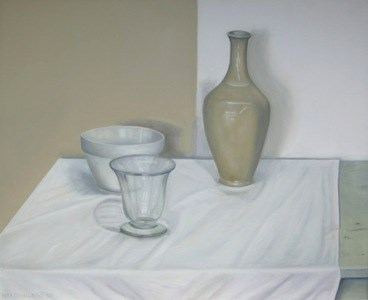 """White Still Life II"" original fine art by Pera Schillings"