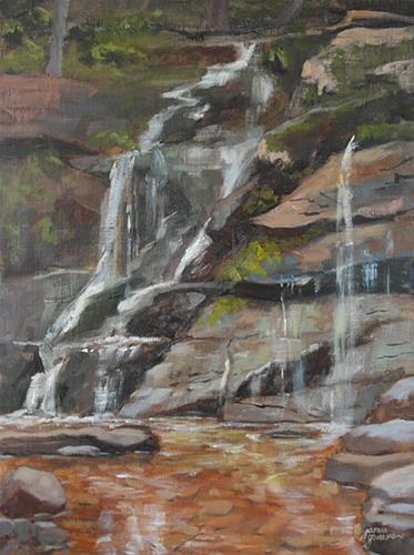 """Bastion Falls"" original fine art by Jamie Williams Grossman"